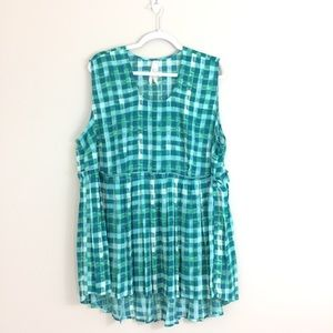 Seven Melissa McCarthy Plaid Tunic Tank Top Shirt